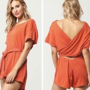 Free People Easy Street Wrapped Romper XS NWT